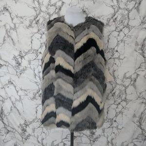 NWT Fever Multi Color Fur Vest XL